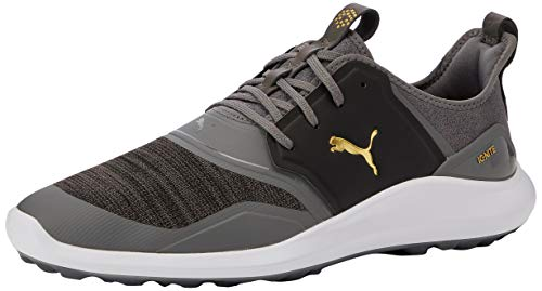 Puma Men's IGNITE NXT Golf Shoes, Grey (Quiet Shade Team Gold Black 02), 7 (40.5 EU)
