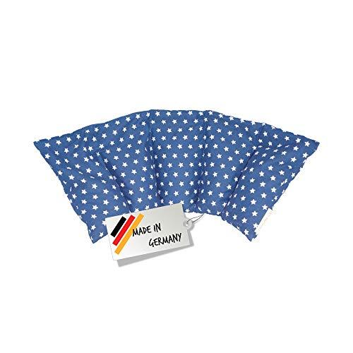 Cuscino con noccioli di ciliegia all'interno/cuscino da rilassamento per il trattamento termico – cuscino termico riscaldabile nel microonde // (blu)
