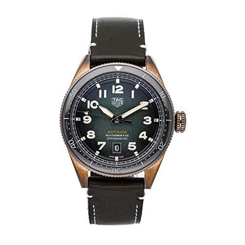 TAG Heuer Reloj Autavia Calibre 5 COSC para hombre, 42 mm, automático, bronce, WBE5190.FC8268