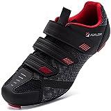Zapatillas de Ciclismo Hombre Bicicleta Carretera Calzado de Ciclismo Transpirable Antideslizante Suela de Carbono