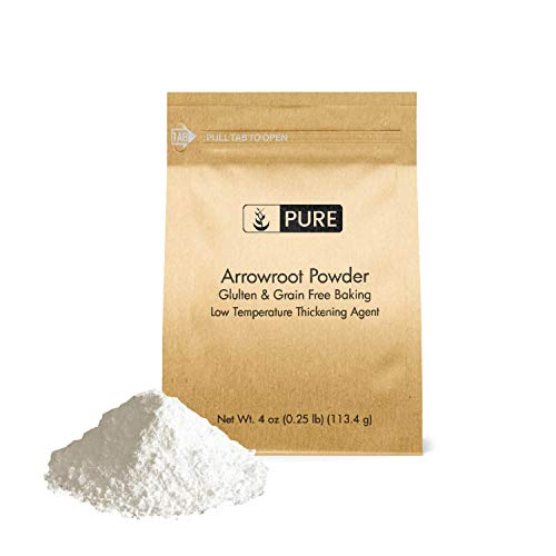 Arrowroot Powder (Flour/Starch) (4 oz), Gluten Free, Grain Free, Vegan, Paleo, Corn Starch Replacement, Thickener, Eco-Friendly Packaging (Also in 1lb, 2 lb)