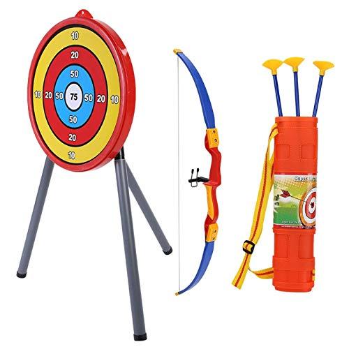 Alomejor Kinder Bogenschießen Spielzeug Bogenschießen Set 1er Bogen+3er Pfeil+1 Köcher+1er Zielscheibe Spielzeug Geschenk