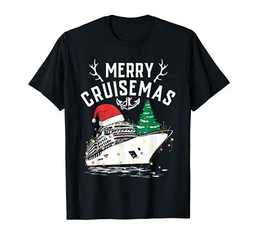 Buon Cruisemas divertente nave da crociera famiglia regalo di Natale Maglietta