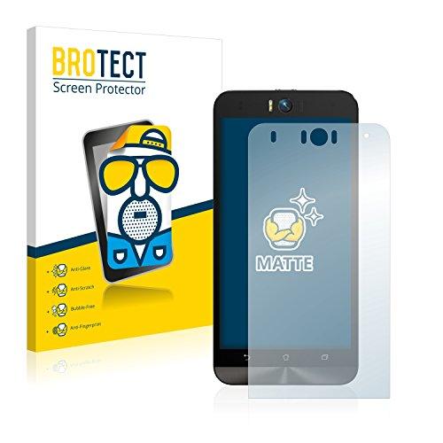BROTECT 2X Entspiegelungs-Schutzfolie kompatibel mit Asus ZenFone Selfie ZD551KL Bildschirmschutz-Folie Matt, Anti-Reflex, Anti-Fingerprint