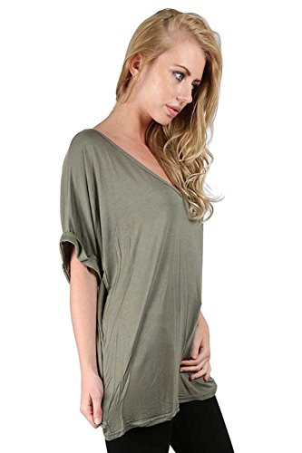 Oops Outlet -  T-Shirt - T Shirt - Donna Verde Cachi