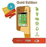 6in1 Greentest Eco 5 + Pesce portatile Rilevatore di Nitrati + Rivelatore di radiazioni + acqua prova TDS radiometro geiger counter nitrate test radiation detector Gold (Oro))