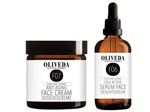 Sonderset: Oliveda F06 Anti Aging Gesichtsserum 50ml + F07 24h Anti-Aging Gesichtscreme 50ml