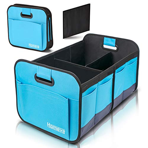 Car Trunk Organizer, Collapsible Storage Box, Perfect for Any Car Suv Trunk Size, Blue