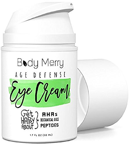 Body Merry Age Defense Eye Cream Natural & Organic Anti-Aging Lotion for Dark Circles, Wrinkles, Puffiness, Crow's Feet, Fine Lines & Bags - 1.7 oz