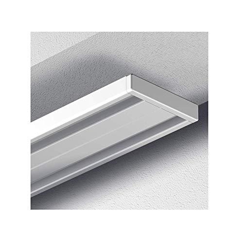 Garduna # 150cm Gardinenschiene Vorhangschiene, Aluminium, Weiss, Glatte, glänzende Oberfläche, (2-läufig oder 1-läufig, Wendeschiene)