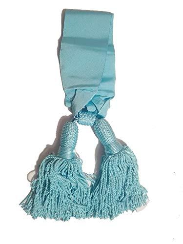 Officiële sjaal in lichtblauw, model Prince of Piemont van zijde
