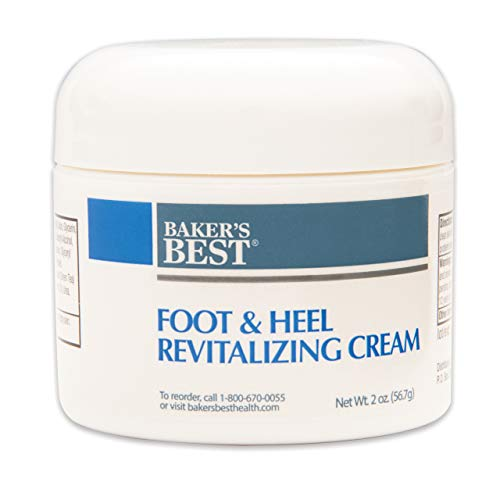 Baker's Best Foot & Heel Revitalizing Cream – Heel cream, Foot moisturizer, Foot lotion for dry cracked feet, Foot cream for dry cracked feet – Aloe, Shea butter, Cocoa butter - 2 oz luxury cream