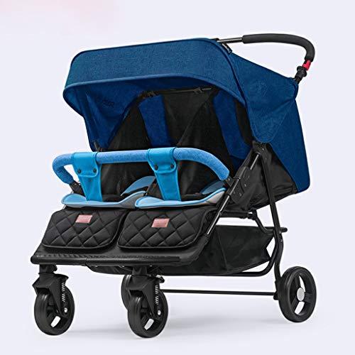 KHUY Légère Pram Voyage Poussette Poussette Carry Bag eith Rain Cover Rainer Couverture Recliner, bébé Landau, siège de Voiture, Poussette (Color : Blue)
