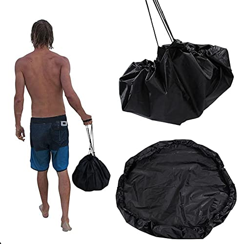LIANYG Bolsa Playa Empresa Impermeable Bolsa Bolsa Deportes poliéster Alfombra Surfing Traje Traje de Almacenamiento Traje de Neopreno Negro Accesorios de natación Bolsa Playa 651 (Size : 50cm)