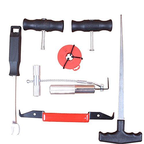 CCLIFE Windschutzscheibe Reparaturset Werkzeug Scheiben Autoglas Ausbau Set 7 tlg KFZ
