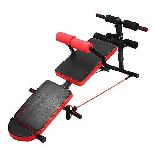 U`King Multifunction Adjustable Sit Up Bench,Folding AB Abdominal Crunch Exercise Board, Abdominal Training Workout Slant Bench, for Home Gym Training