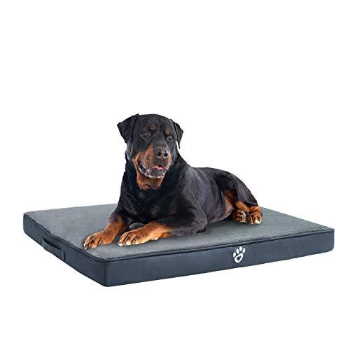 FRISTONE Orthopädisches Hundebett für Kleine Mittlere Große Hunde, Waschbar Hundematratze, Eierkistenform Schaum Hundekissen mit Abnehmbarem Bezug,Navy blau