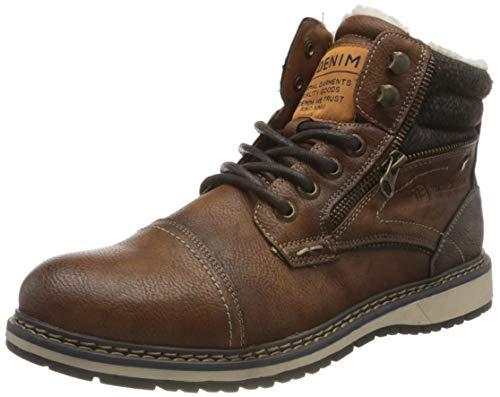 Tom Tailor Mens 9085306 Mid Calf Boot Bootie Boot, Brown, 10 UK
