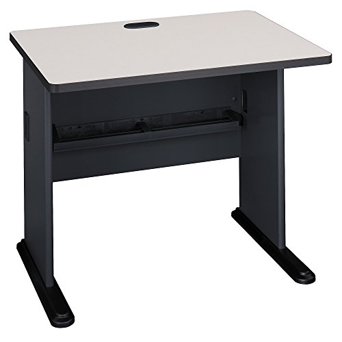 Bush Business Furniture Series A 36W Desk - Slate/White Spectrum 36W X 27D X 30H ERGONOMICHOME BUSH BUSINESS FURNITURE