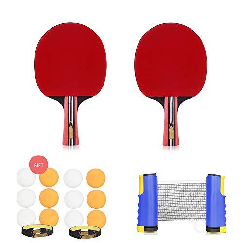 LHR Juego De Tenis De Mesa Retráctil, Juego De Paleta De Ping Pong Juego Avanzado De Interior para El Hogar para Niños Adultos Entrenamiento De Tenis De Mesa