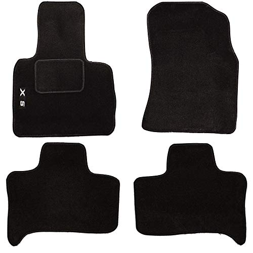lupex Shop tpmis _ .X5Alfombrillas Coche de moqueta con logo para X5