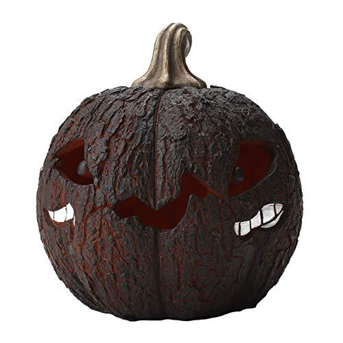 Halloween Kürbis Laterne, Kürbis Nachtlicht mit Monster Face Tischlampe Halloween Scary Night Party Dekor Ornamente