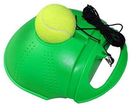 Fourthsky Tennis Trainer Palla di rimbalzo per l'auto-tennis, attrezzo per l'allenamento fitness, palla per l'allenamento della schiena e l'allenamento portatile per principianti, Verde