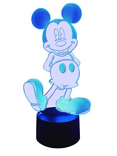 originelle 3d lámpara LED Mickey Mouse–Lámpara de mesa lámpara infantil Wohnlicht