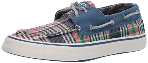 Sperry Men's Bahama II Back Sneaker, Kick Black Plaid, 9.5 M US -  STS22395-001-9.5 M US