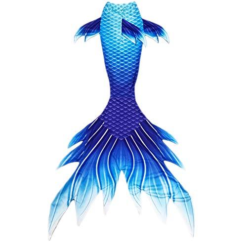 Sxyfushi Xyfushi Meerjungfrauenflosse zum Schwimmen mit Monoflosse für Damen, Herren, Mädchen und Jungen (Blau, 140)