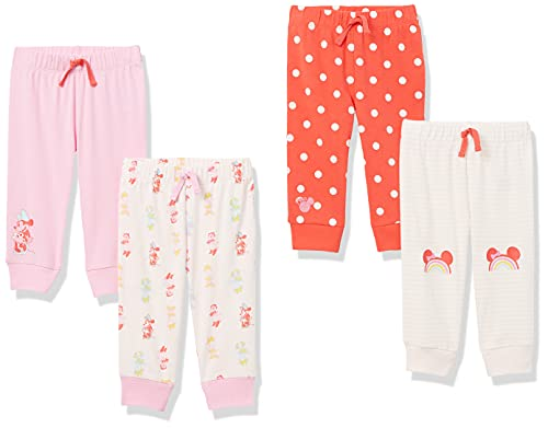 Amazon Essentials Baby Disney Star Wars Marvel Pants Pantalones, Paquete de 4 Minnie Rainbow Chaser, 18 Meses