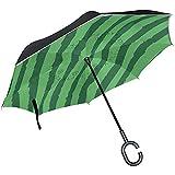Elxf Ombrello inverso Modello Anguria Invertito Protezione UV Ombrello Reversibile per Golf Car Travel Rain Outdoor Black
