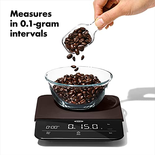 OXO 11212400 Good Grips 6 Lb Precision Coffee Scale with Timer,Black,One Size