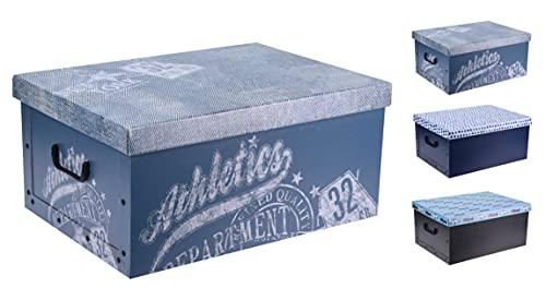 3er Set Aufbewahrungsbox in 3 Farben (Sport Motive) mit jeweils 45 Liter Inhalt - Aufbewahrungsbox