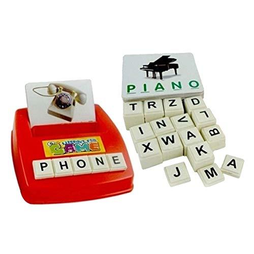 freneci Divertida Máquina de Aprendizaje de Juguete para Niños, Tarjeta de Letras Educativas 26 Letras Tarjetas