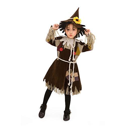 LumeMery Disfraz de espantapájaros para niñas, Disfraz de Cosplay de Halloween, Traje de Padres e Hijos, Disfraz para niños Adultos