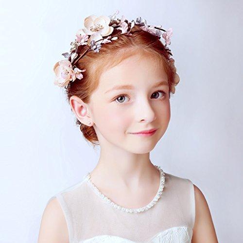 & Coiffe des fleurs de la Couronne Fleur de fleur d'enfant, Bandeau Fleur Guirlandes Fête de mariée à la main à la main Fierté Bandeau Bracelet Bande de cheveux couronne de couronnes de fleurs ( Couleur : Multicolore )