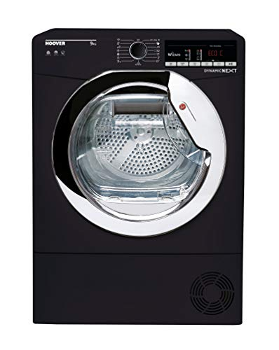 Hoover DXOC9TCEB Freestanding Condenser Tumble Dryer with Aquavision, WiFi Connected, 9Kg Load, Black