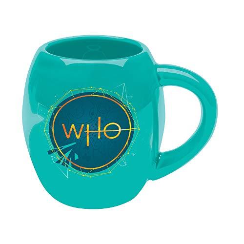Vandor 56404 Doctor Who S11 Tardis Kaffeebecher, oval, Keramik, Grün/Blau/Gold