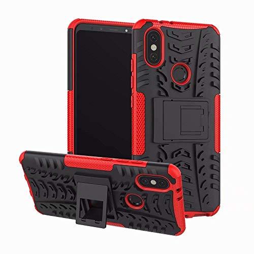 Capa Capinha Anti Impacto Para Xiaomi Mi A2 5.99Case Armadura Hybrid Reforçada Com Desenho De Pneu - Danet (Vermelho)
