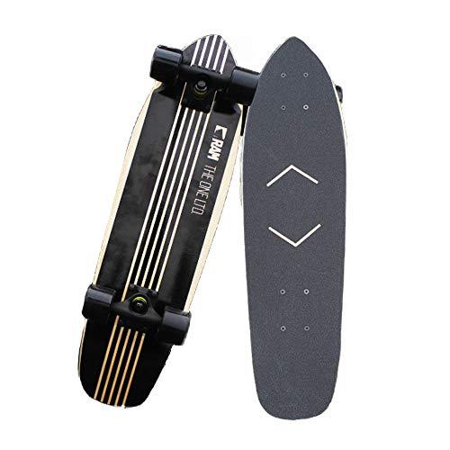 Hignful Skateboard Komplettes Longboard Vintage Mini Cruiser Komplettes Skateboard, Ahorn Skateboard, Klassisches Skateboard Profi Und Anfänger Für Extremsport Outdoor Professional Skateboard
