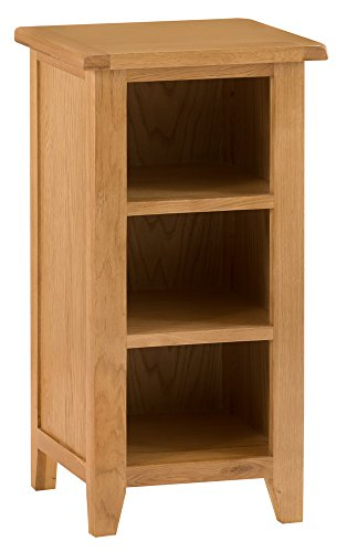 The Furniture Outlet Rustic Oak Small Narrow Bookcase