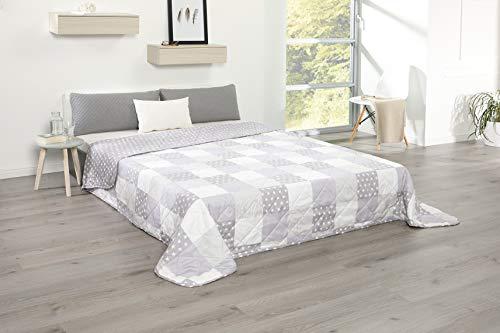 MB Warenhandel24 Tagesdecke XXL Allzweckdecke ca. 220x240 Patchwork Landhaus Sofa Bettüberwurf (Stern Patch)