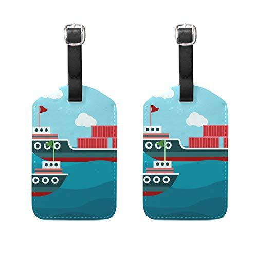 FANTAZIO Etiquetas de Viaje para Equipaje Crucero Vela x2