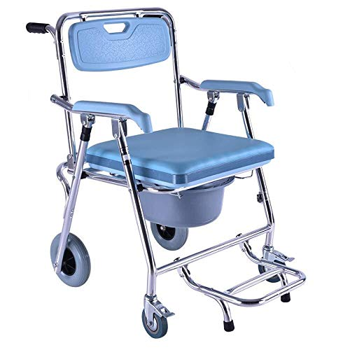 Lowest Prices! ZWJ-Shower Chair Wheelchair Toilet Wheel Toilet Toilet Elderly Pregnant Women Disable...