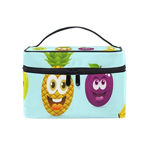 Sac de maquillage Premium Cartoon Fruits Cosmetic Bag Portable Grand Trousse de toilette pour femmes/filles Voyage