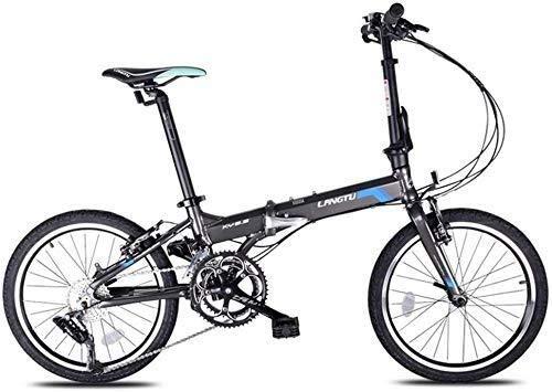 BANANAJOY Adultos niños adultos de la bicicleta plegable Ocio Estudiante de bicicletas Parque de bicicleta de ejercicios aleación de aluminio de 20 pulgadas de adultos estudiantes masculinos y femenin
