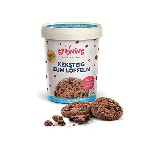 Original Spooning Cookie Dough® Keksteig zum Löffeln / Keksteigmischung – Einzelware – 1x 215G – Black Cookie Crunch | VEGAN
