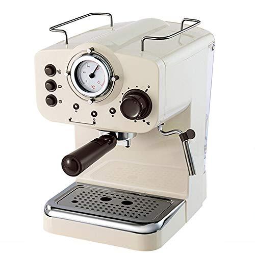 BTASS Espressomaschine, Edelstahl Siebträger-Espressomaschine1000 Watt, 15 Bar 2-Tassen-Funktion 28.8 X 20 X 31.4 cm