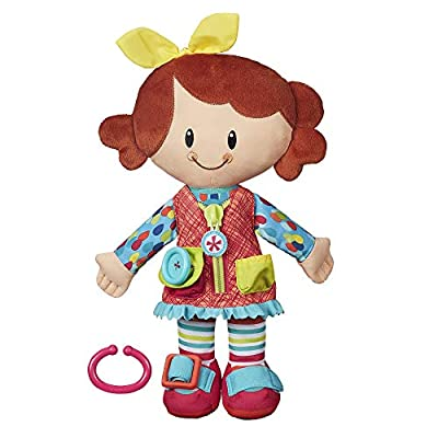 Playskool Dressy Kids Girl Activity Plush Stuffed Doll Toy for Kids and Preschoolers 2 Years and Up (Amazon Exclusive) by Hasbro